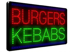 Bright Burgers Kebabs LED Sign (LDX-28)